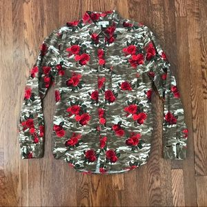 Nordstrom Rail Floral & Camouflage Shirt